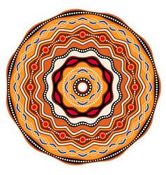 Ethnic circle background design australian vector