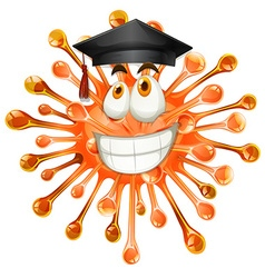 Freeform with graduation cap vector image
