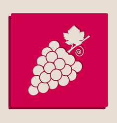Grapes sign grayscale vector