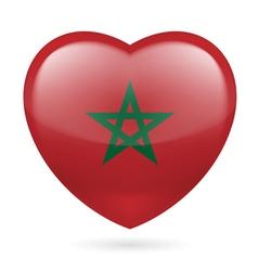 Heart icon of morocco vector
