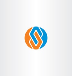 Letter s blue orange logotype circle symbol vector