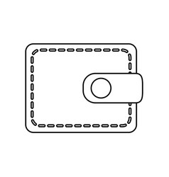 Line cute wallet to save money vector