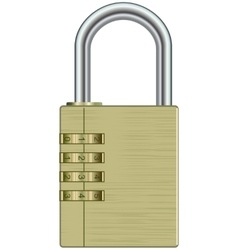 Metal lock vector image