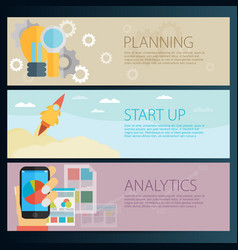 Modern business concept in flat design planning vector