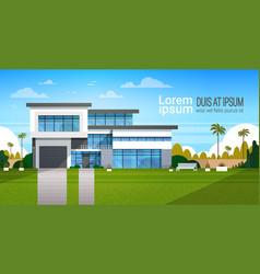 modern cottage house exterior villa building vector image