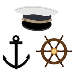 Navy set vector image