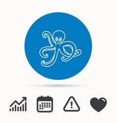 Octopus icon ocean devilfish sign vector