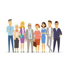 office team - modern business cartoon vector image vector image