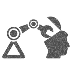 Open head surgery manipulator grainy texture icon vector