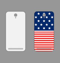 Phone cover american style vector
