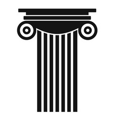Reinforced concrete column icon simple style vector