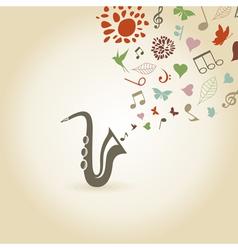 Saxophone2 vector image vector image