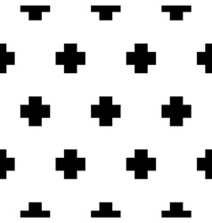 Seamless pattern with cross geometric vector