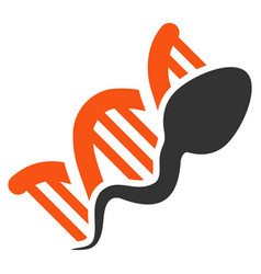 Sperm replication flat icon vector