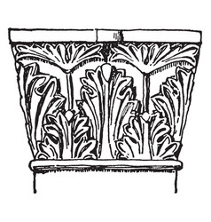Syrian carving workshop vintage engraving vector