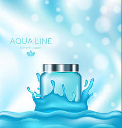 Template for advertising poster for cosmetic vector