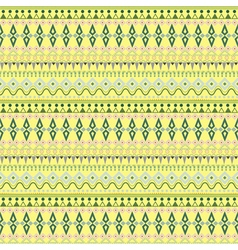 Tribal ethnic seamless stripe pattern on yellow vector image vector image