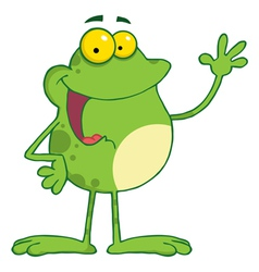 Waving frog vector