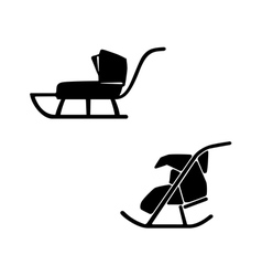 Winter sled set of two sleds for baby vector