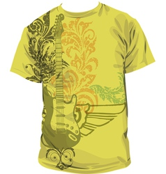 Guitar t-shirt vector