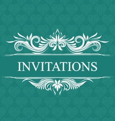 Invitations wedding ornamental vector