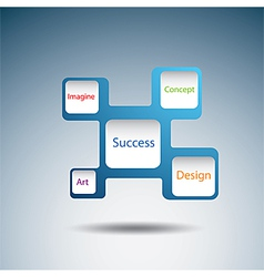 Label diagram of success concept vector