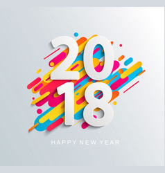 New year 2018 design card on modern background vector