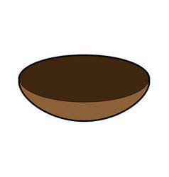 Bowl dishware prepare food kitchen utensil vector