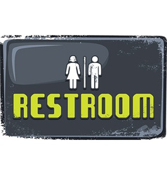 Restroom sign vector