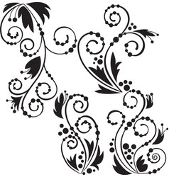 Free floral flourishes vector