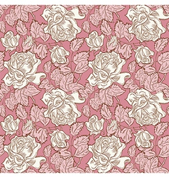 Rose flower seamless background vector