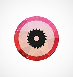 Industrial saw circle pink triangle background vector