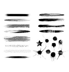 Brush strokes elements vector