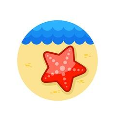 Starfish icon summer vacation vector
