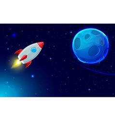 Rocket fly in space vector