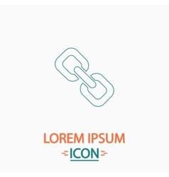 Link computer symbol vector