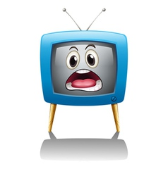 A television with face vector