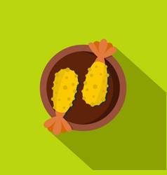 Asian food icon flat style vector