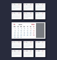 calendar for 2018 year vector image