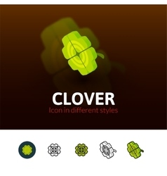 Clover icon in different style vector