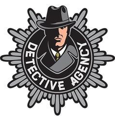 Detective agency symbol vector image vector image