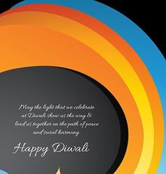 diwali card vector image vector image