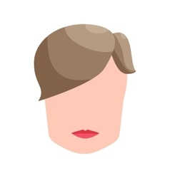 Fashion mens hairstyle icon cartoon style vector image