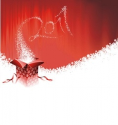happy new year 2011 design vector image