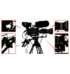 High detailed professional television video camera vector