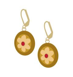 isolated beautiful earrings vector image