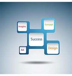 Label diagram of success concept vector image vector image