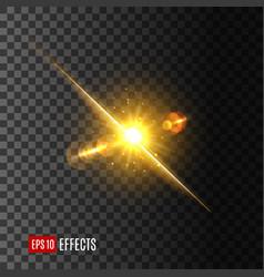 light flash or sun shine on transparent background vector image vector image