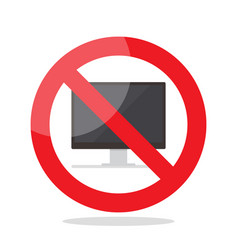 no computer sign vector image vector image