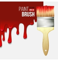 Paintbrushes with dripping paint vector image vector image